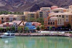 Vue de ville de lac Las Vegas Images libres de droits