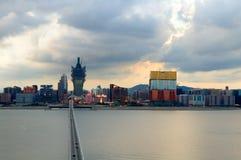Vue de ville de Macao Photo stock