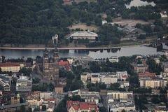 Vue de ville de Magdebourg Photographie stock libre de droits