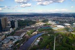 Vue de ville de Melbourne Photos libres de droits
