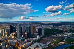 Vue de ville de Melbourne Photographie stock libre de droits