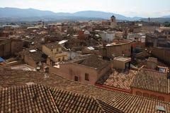 Vue de ville de Montblanc Photo libre de droits