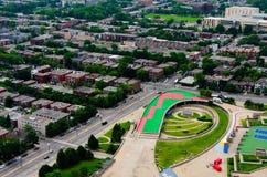 Vue de ville de Montréal Images libres de droits