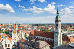 Vue de ville de Munich Images stock