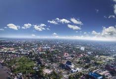 Vue de ville de Palangkaraya photographie stock libre de droits