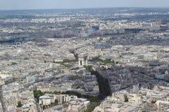 Vue de ville de Paris Photographie stock libre de droits