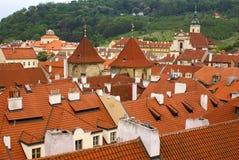 Vue de ville de Prague de côte Photographie stock libre de droits