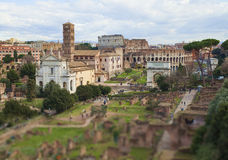 Vue de ville de Rome, Italie Photographie stock libre de droits