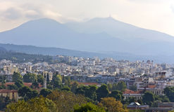Vue de ville de Salonique chez la Grèce Images stock