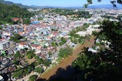 Vue de ville de Tachileik Photo stock