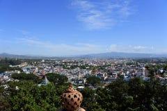 Vue de ville de Tachileik, l'État Shan Photographie stock