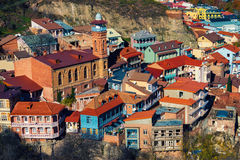 Vue de ville de Tbilisi Photos stock