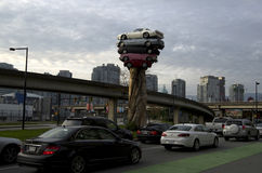 Vue de ville de Vancouver Photographie stock