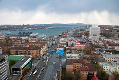 Vue de ville de Vladivostok Images stock