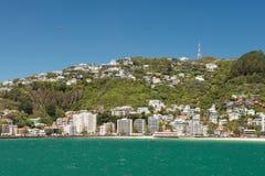 Vue de ville de Wellington, Nouvelle-Zélande image stock