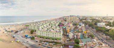 Vue de ville du bâtiment dans Chennai, Inde Image stock