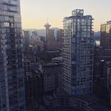Vue de ville du centre de Vancouver Images libres de droits
