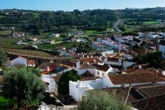 Vue de ville et de murs d'Obidos Photo libre de droits