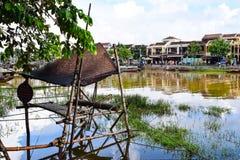 Vue de ville historique de Hoi An, Vietnam image libre de droits