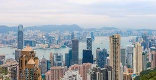 Vue de ville de Hong Kong au crépuscule Photo libre de droits