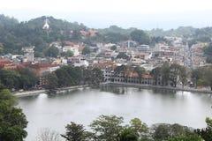 Vue de ville de Kandy au Sri Lanka image stock