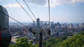 Vue de ville de Kobe de ropeway banque de vidéos