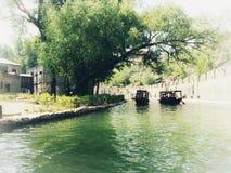 Vue de ville de l'eau de Gubei dans Pékin Images libres de droits