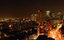 Vue de ville la nuit Photo libre de droits