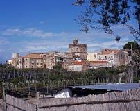 Vue de ville, Massa Lubrense, Italie. Photos stock