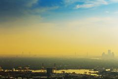 Vue de ville Thaïlande de Bangkok photographie stock libre de droits