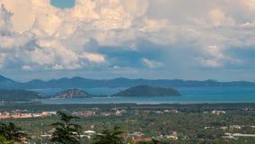 Vue de ville de Timelapse d'île de Phuket, Thaïlande clips vidéos