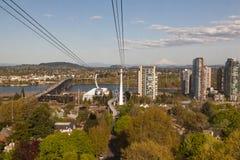 Vue de ville de voiture de tram photographie stock