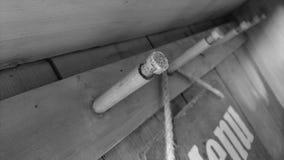 Vue de vintage du signe en bois de accrocher et de menu photos libres de droits