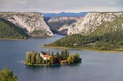 Vue de Visovac Photos libres de droits