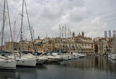 Vue de Vittoriosa, Malte photographie stock