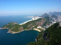 Vue de vol au-dessus de Rio de Janeiro Images stock