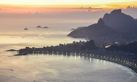 Vue de vol de baie de Guanabara brazil Rio de Janeiro Photos stock