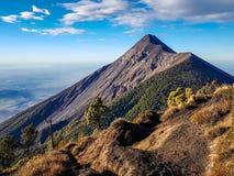Vue de volcan d'Acatenango, Guatemala photo libre de droits