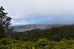 Vue de volcan d'un de fond loin photo stock