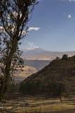 Vue de volcan de Mismi Photographie stock