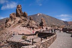 Vue de volcan Teide. Images libres de droits