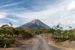 Vue de Volcano Concepcion dans Ometepe Images libres de droits