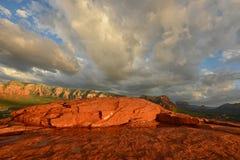 Vue de vortex d'aéroport dans Sedona, Arizona avec les roches rouges Photographie stock libre de droits