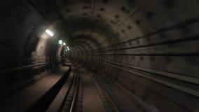 Vue de voyage de souterrain banque de vidéos
