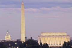 Vue de Washington DC Photographie stock libre de droits
