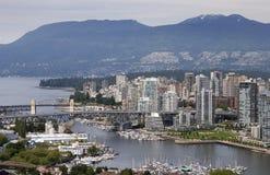 Vue de West End de Vancouver Photographie stock libre de droits