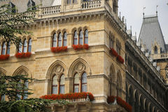 Vue de Wien Rathaus en Autriche image libre de droits