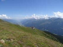 Vue de Wildkogel, Autriche Image stock
