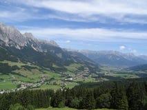 Vue de Wildkogel, Autriche Photo libre de droits