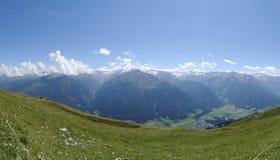 Vue de Wildkogel, Autriche Images libres de droits